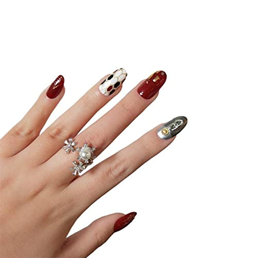 ハンサム荒野かりてVALEN Nail Patch ネイルチップ つけ爪 付け爪 つけ方簡単 ネイル デコネイルコレクション シール ハロウィン 母の日 パーティ 人気 毎日変身 24枚セット