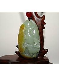 2.4「認定中国Nature Nephrite Hetian Jade Wealth Beast手彫りペンダント