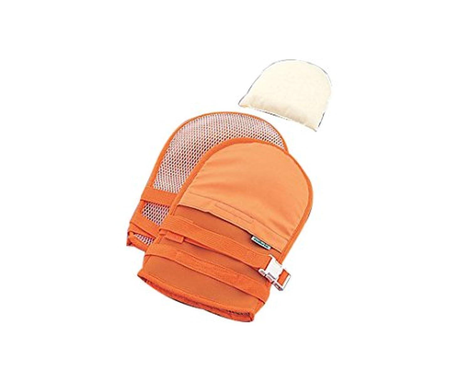摩擦ほとんどないウイルスナビス(アズワン)0-1638-41抜管防止手袋大メッシュオレンジ