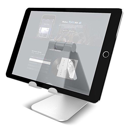タブレット スタンド 角度調整可能, Lomicall スタンド : 充電スタンド, ホルダー 対応 タブレット 卓上 (4...