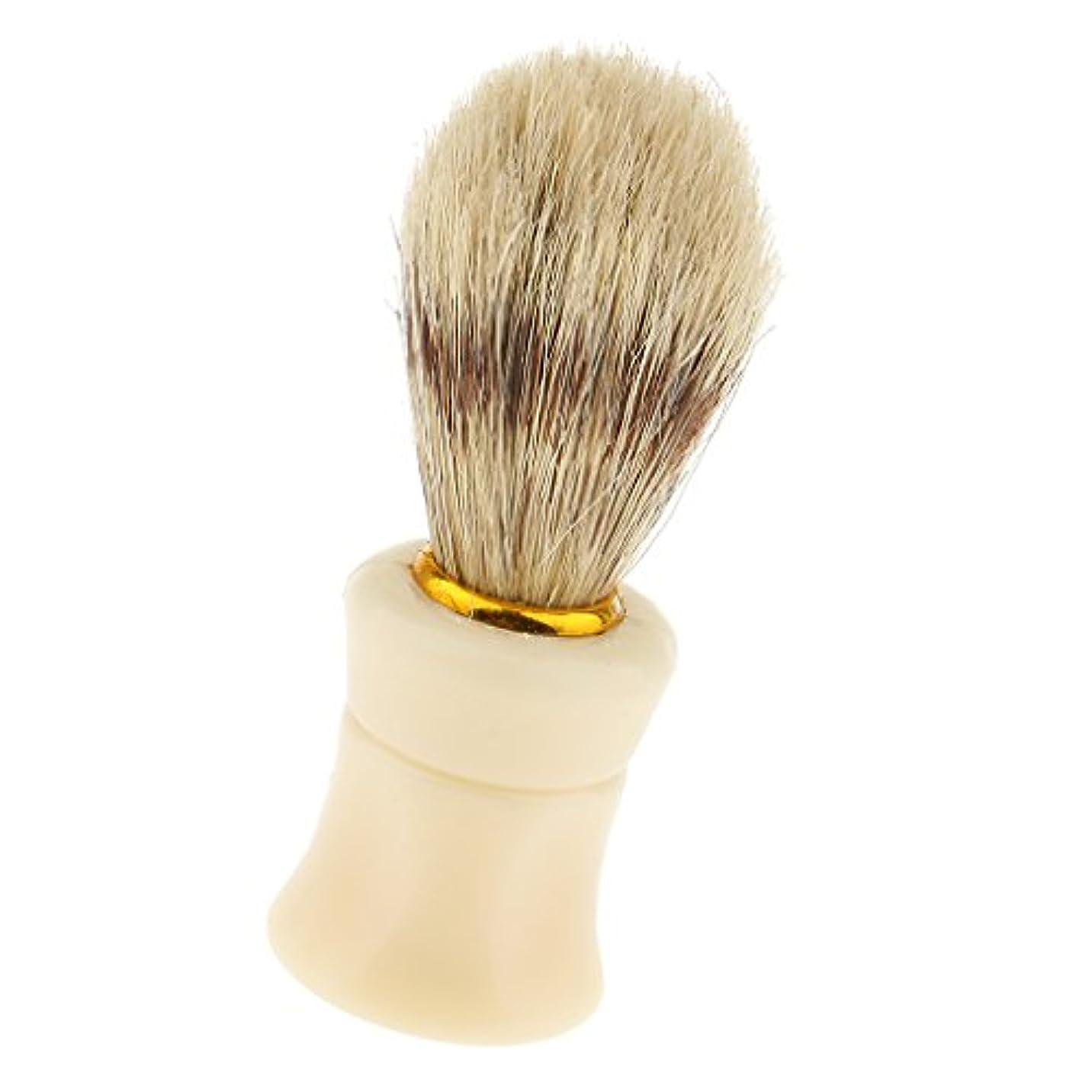 ばか虚栄心ブラウンdailymall 男性ひげ剃りひげ顔洗顔良いグルーミングブラシ、サロン理髪理髪ツール、父の贈り物