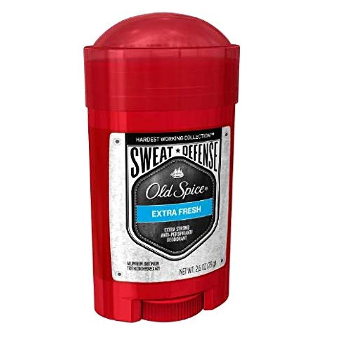 監査シャツ結び目Old Spice Hardest Working Collection Sweat Defense Extra Fresh Antiperspirant and Deodorant - 2.6oz オールドスパイス ハーデスト...
