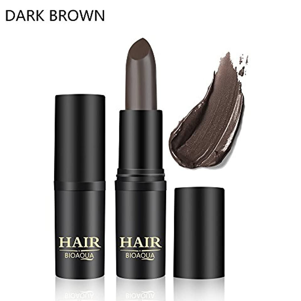 同級生る詩人[BROWN] 1PC Temporary Hair Dye Cream Mild Fast One-off Hair Color Stick Pen Cover White Hair DIY Styling Makeup...