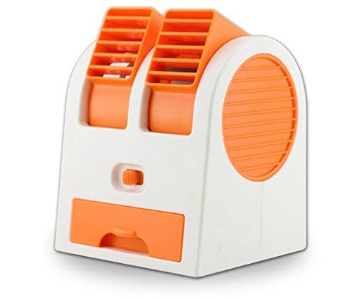 USB冷風扇風機 ダブル 冷却ファン搭載 卓上扇風機 ミニフ...