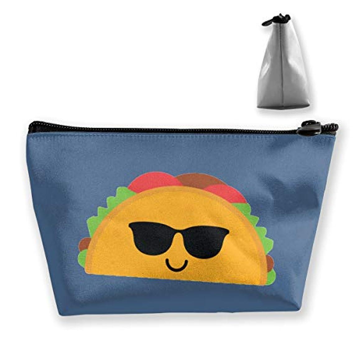 叙情的なもろいバースタコスクールサングラス 収納ポーチ 化粧バッグ 大容量 台形 収納袋 小銭入れ 小物用ケース 携帯便利 防水 出張 旅行