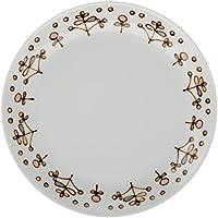 白山陶器 パン皿 ピンク (約)φ19.5cm  スピカ 波佐見焼 日本製