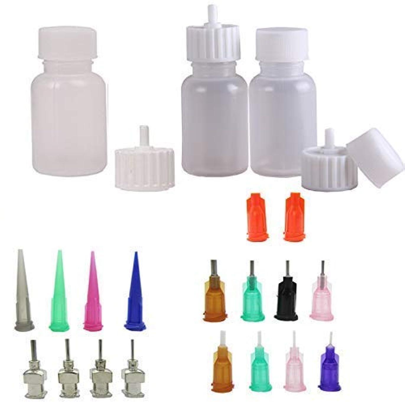 乳白排出香港ヘナの瓶 ヘナタトゥー用ヘナコーン 保存用のアプリケーターボトル 多目的精密アプリケーター液体容器容器 ドロッパーボトル ニードルチップと蓋つ付き