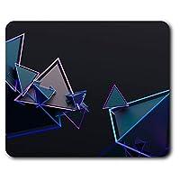 快適なマウスマット - 3D三角形抽象的な形状コンピュータ&ノートパソコン、オフィス、ギフト用23.5 X 19.6センチメートル(9.3 X 7.7インチ)、ノンスリップベース - RM2782