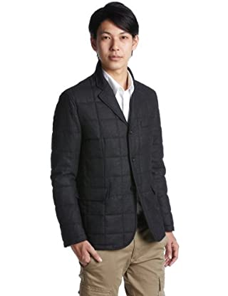 Quilt Padded Jacket 51-16-0144-565: Charcoal