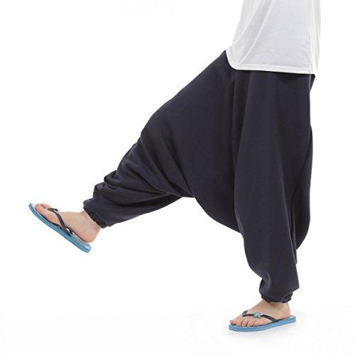 [OKI(オキ)] フリース サルエルパンツ アラジンパンツ 裏起毛 スウェット メンズ レディース パジャマ もこもこ オールインワン