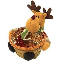TeFuAnAn クリスマス バスケット キャンディーバスケット 収納バスケット 収納箱 クリスマスプレゼント 可愛い飾り 子供おもちゃ