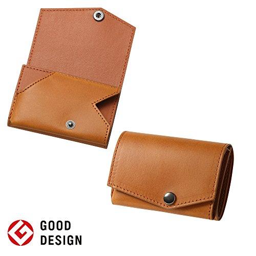 小さい財布 abrAsus ブッテーロレザーエディション キャメル