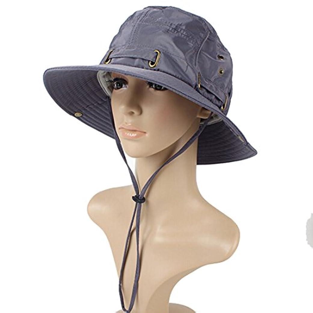複雑な湿地月Little椅子メンズレディースアウトドアSPF 50 + UV保護太陽釣りキャップバケットBoonie Hat