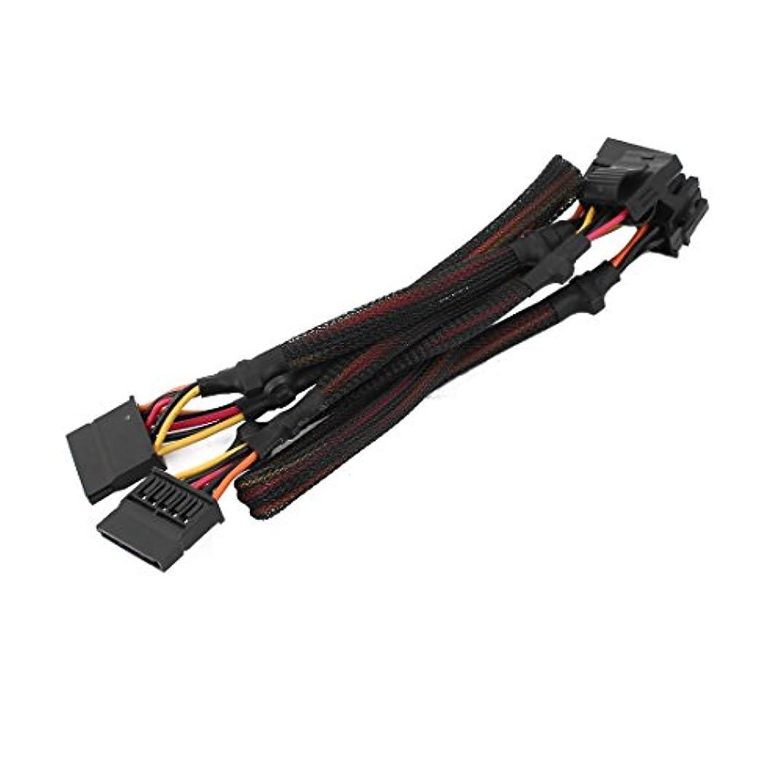 ながらぬいぐるみ前部uxcell ハードドライブ電源ケーブルアダプター コネクター 5ピンメスから3X SATA LP4へ 94cm