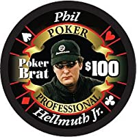 Phil Hellmuth Poker Professional $ 100フルセラミックポーカーチップ – Hot Collector 's Item