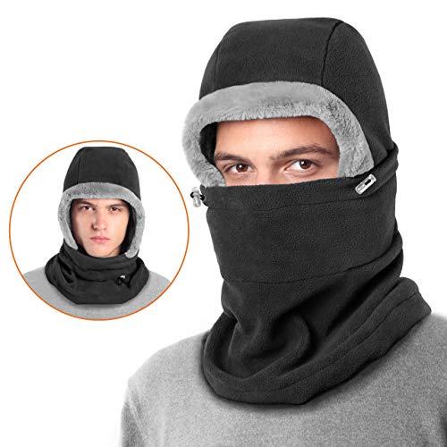 Dimples Excel フードウォーマー 防寒 バラクラバ フェスマスク ネックウォーマー 目出し帽 冬 フリース 暖かい ネックマスク 帽子 アウトドア スポーツ スキー スノボ 自転車 バイクなどに 男女兼用