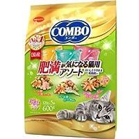 (まとめ)コンボ キャット 肥満が気になる猫用アソート 600g【×12セット】【ペット用品・猫用フード】