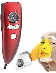 電気脱毛装置は痛みがありません女性4で1充電式電気脱毛器の髪、ビキニエリア鼻脇の下腕の脚の痛みのない永久的な体毛リムーバー-red