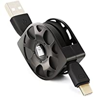 TITACUTE 伸縮 USB Type-Cケーブル 巻き取り式 急速充電& 高速データ転送用 USB 2.0 Type C to Type A 高速データ転送 ケーブル 伸縮収納設計 絡み防止 ライトニングケーブル 伸縮収納デザイン 五段目長さ usb リール Type A-Type C ケーブル 長い USB Type C ケーブル Galaxy Note9 Huawei p20 Lite LG G7 ThinQ / LG G7+ ThinQ Xperia XZs ,Xperia XZ, Xperia X Compact, Xperia XA1, Xperia XZ Compact XZ1, XZ1,Compact XA2 Ultra,xperia xz2 compact,SHARP A1,SHARP AQUOS Xx,AQUOS S2、Zenfone3、Nintendo Switch、Galaxy Note 8、S8 S8+、SAMSUNG Galaxy S9 S9+、Nokia 6、Huawei P9、新しいMacbookなど USB-C ケーブル 1年保証 グレー