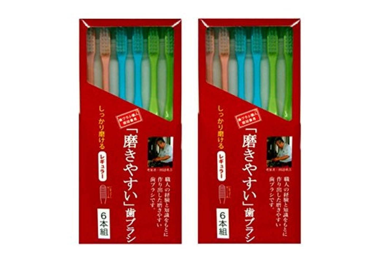 ソロそうでなければメイド磨きやすい歯ブラシ 6本組 レギュラータイプ×2個セット