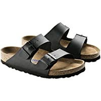 Birkenstock Unisex Arizona SFB Narrow Fit - Black 551253 (Man-Made) Womens Sandals