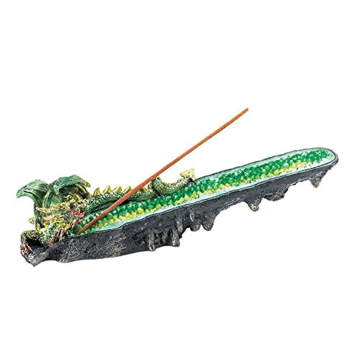 相談する複製する手錠Incense Burners、ドラゴングリーン樹脂Incense Burner Statue for Incense Stick