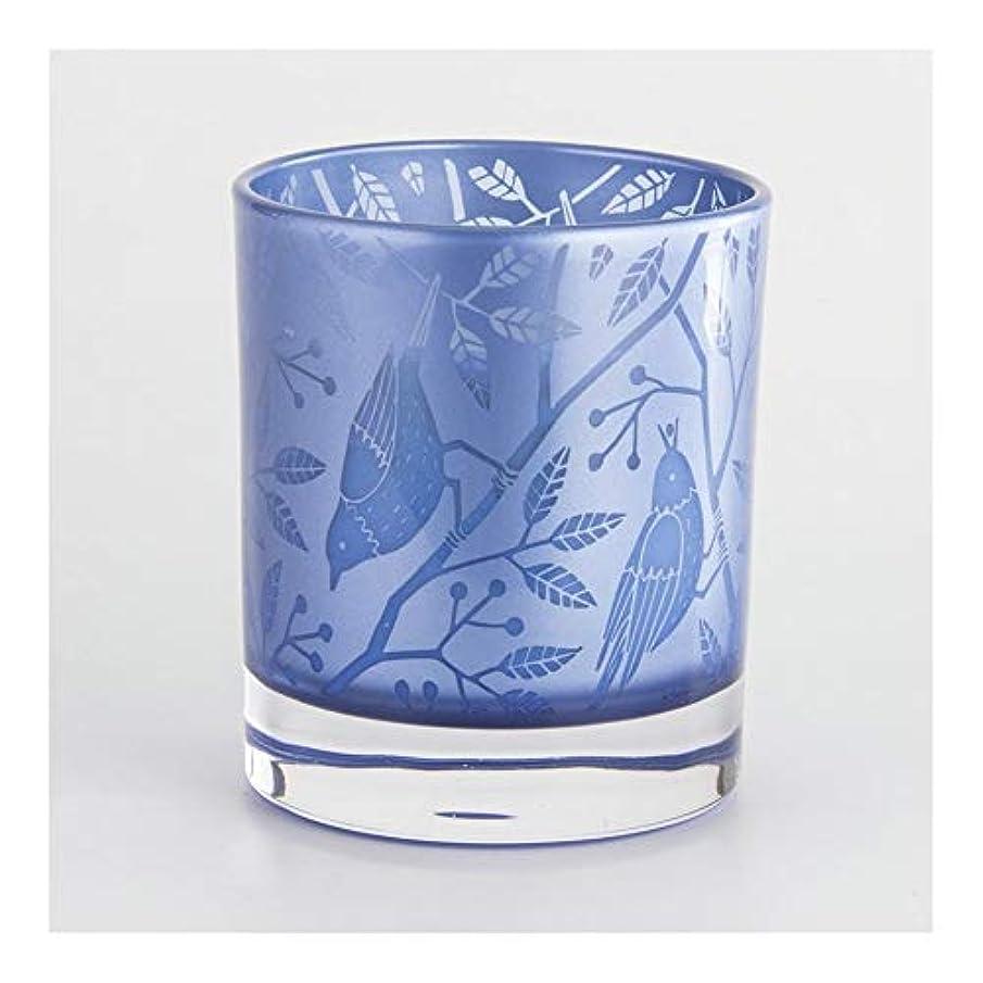 適用済み有益な読みやすいACAO ブルーフラワーバードカップワックスワックスアロマセラピーキャンドルワックスカップカップキャンドルカップキャンドルカップ