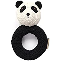 Organic Newborn Toys - Panda Baby Rattle by Cheengoo