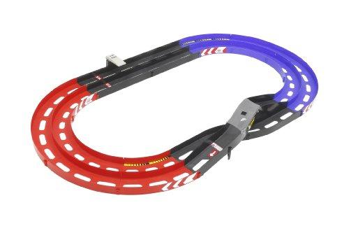 ミニ四駆限定シリーズ オーバルホームサーキット 立体レーンチェンジ ラップタイマー付 (レッド/ブルー)