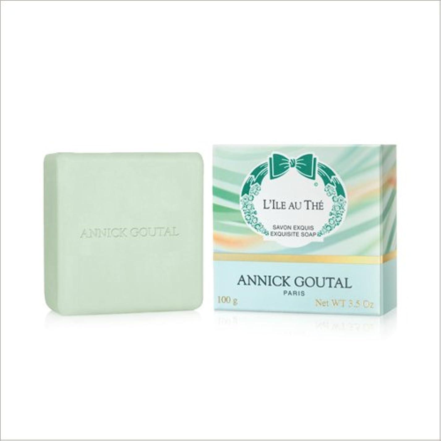 可塑性アーティファクトビリーヤギアニックグタール イル オ テ ソープ 100g ANNICK GOUTAL L'ILE AU THE SOAP [並行輸入品]