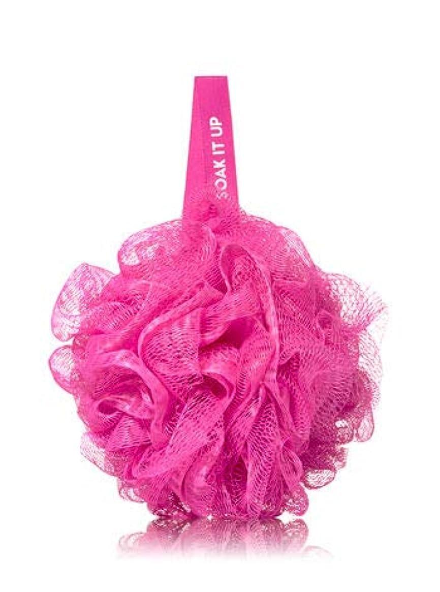 混雑二害【Bath&Body Works/バス&ボディワークス】 バススポンジ ピンク メッシュ Shower Sponge Pink Mesh バス用品 [並行輸入品]