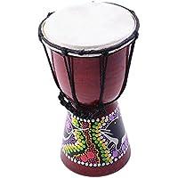 Prettyia 4インチ ミニジャンベ 手ドラム ダンスドラム パーカッション 打楽器 子供 練習ため