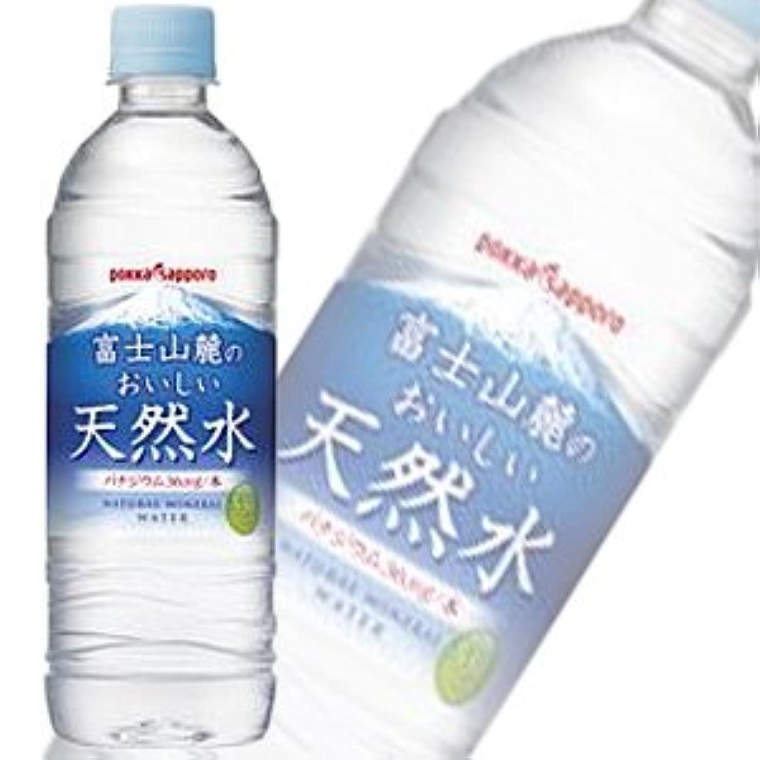 魚微弱仲人ポッカサッポロ 富士山麓のおいしい天然水 530mlペットボトル×24本入×(2ケース)