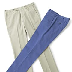 Garment Dyed Stretch Cotton Pant 386: Beige, Blue