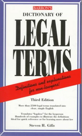 Download Dictionary of Legal terms 0764102869