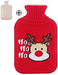ホットウォーターボトル大温かいクリスマススタイルのウォーターボトル2L