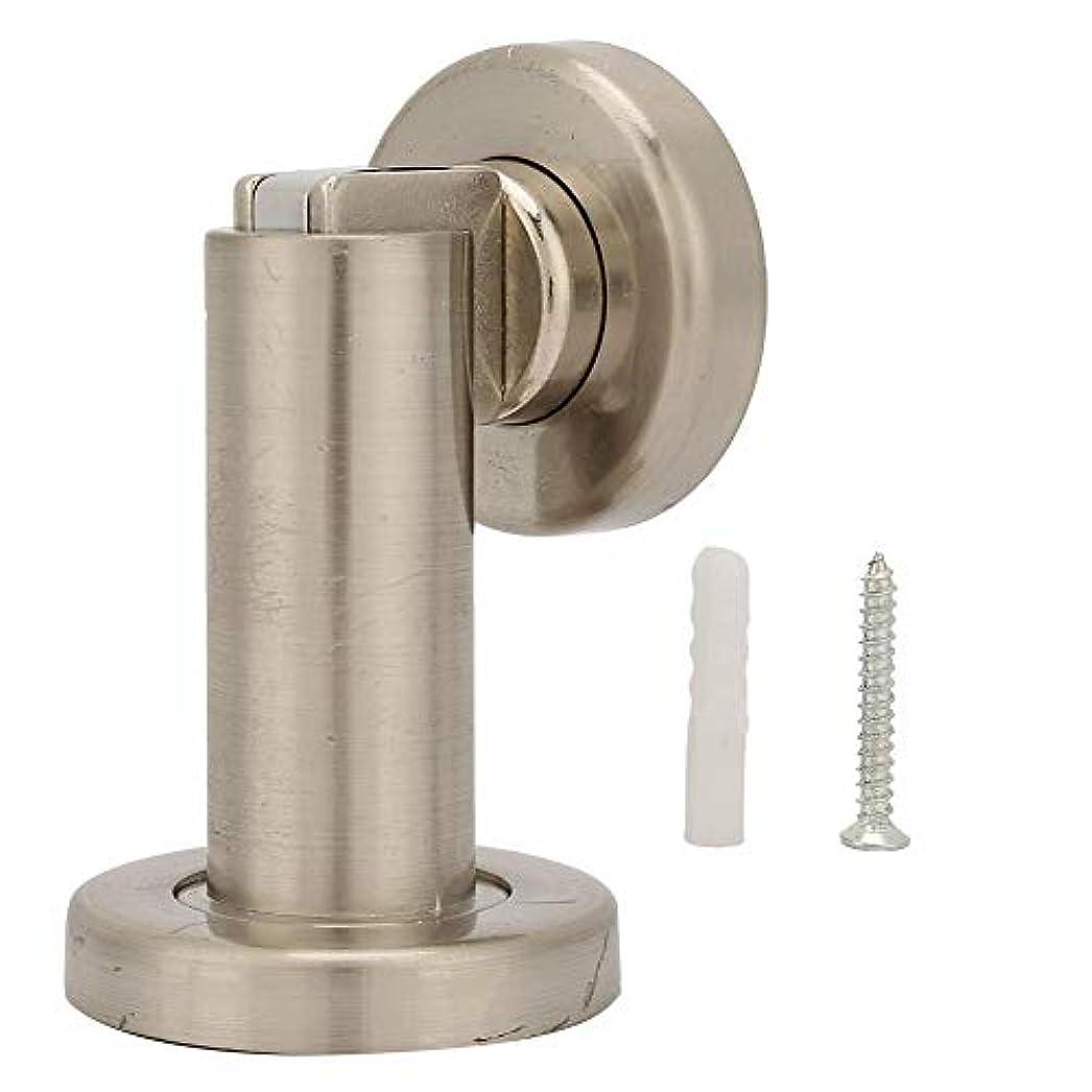 効能あるコールドラボFTVOGUEクラシック磁気ドアストップドアストッパーアングルホームドアホルダーストッパーシンプルメタルドアストップウォールマウントまたはフロアマウントヘビーデューティドアホルダー(銀色)