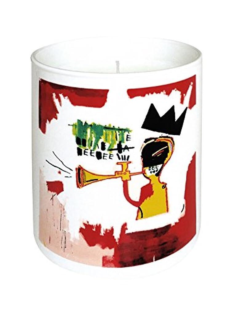 プラスファイアル保険をかけるジャン ミシェル バスキア トランペット キャンドル(Jean-Michael Basquiat Perfumed Candle