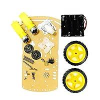 Homyl 2車輪2層ロボットArduino DIY用スピードエンコーダ付きスマートカーシャーシキット