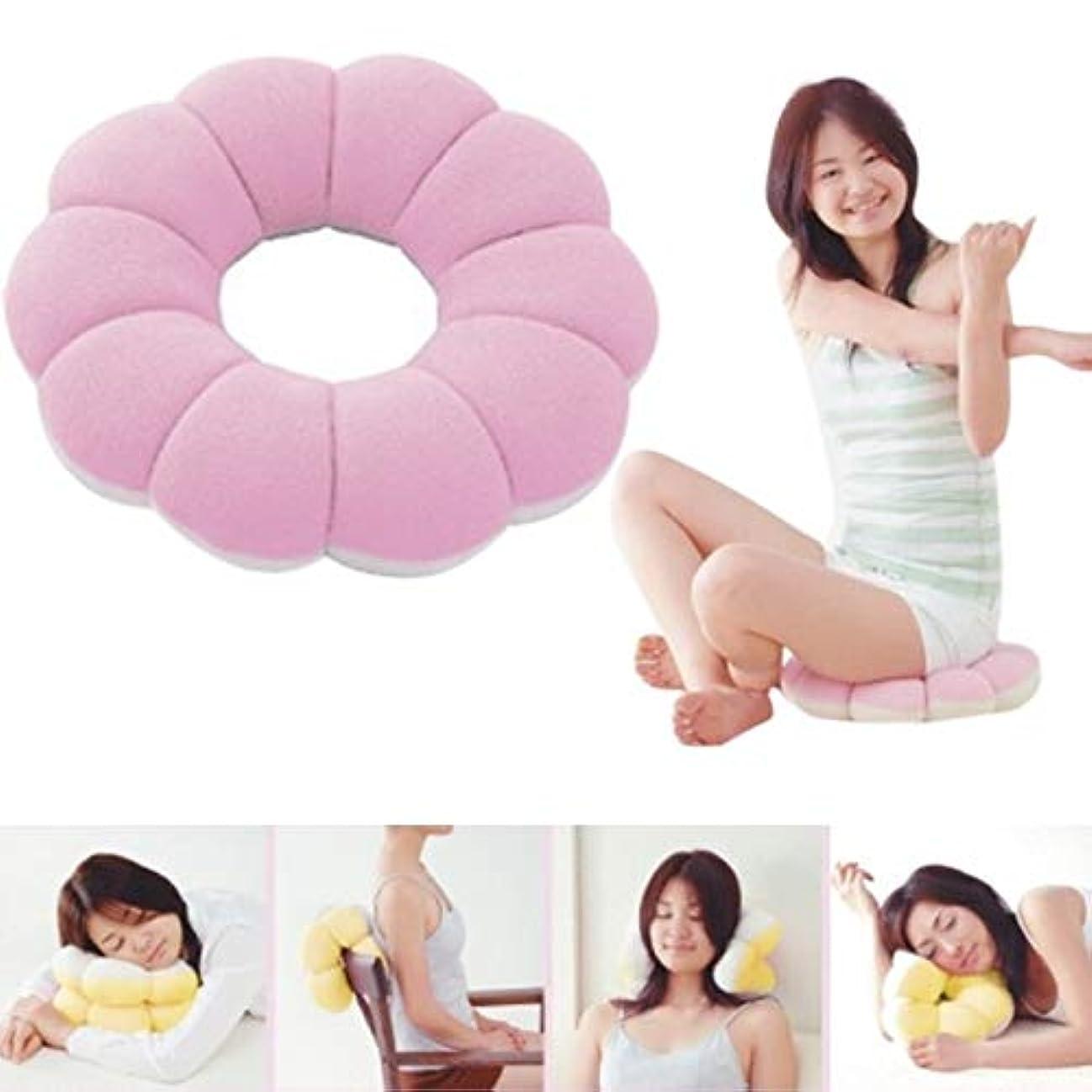 寝てる近々モーテルLIFE ドーナツ多機能クッション頚椎腰椎ソファホームオフィス旅行枕 E2S クッション 椅子