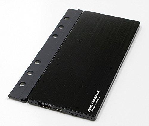 TOPLAND リフィル型モバイルバッテリー ブラック M4...