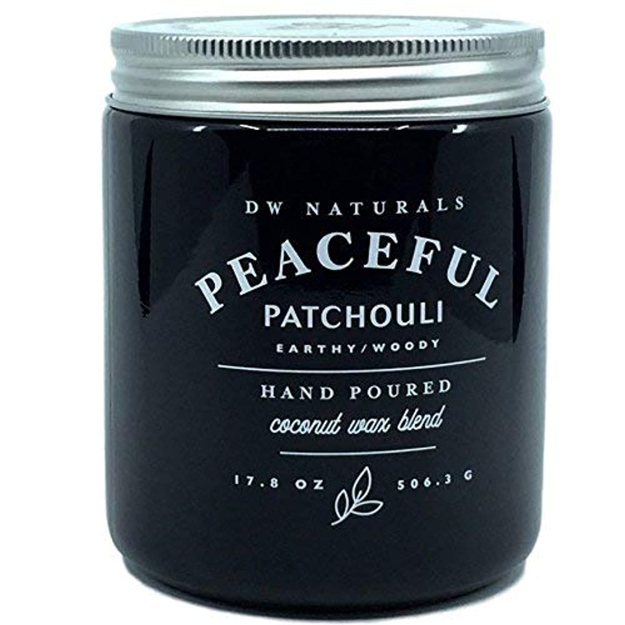 規制リーフレット短命DW Naturals Peaceful Patchouli Earthy Woody Hand Poured Coconut Wax Blend Candle 17.8 Oz [並行輸入品]