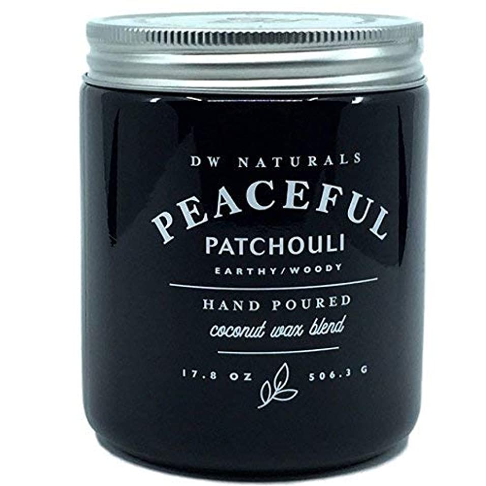 ステレオタイプリングレット主張するDW Naturals Peaceful Patchouli Earthy Woody Hand Poured Coconut Wax Blend Candle 17.8 Oz [並行輸入品]