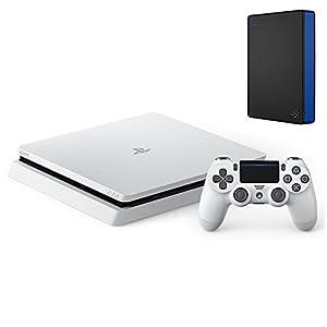 PlayStation 4 グレイシャー・ホワイト 1TB (CUH-2100BB02)+Seagate PS4向け ポータブルハードディスク 2TB