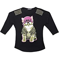 Kids Girls Top LOL Laugh Out Loud Trendy Party Fashion Stylish Shirt Tops Tees