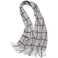 Zumine メンズ高級 スカーフ マフラー ショール ストール 厚い ウール カシミヤ 無地 ユニセックス Mens Soft & Comfortable Classic Plaid Winter Cashmere Scarf