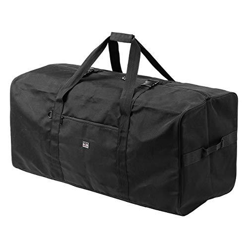 サンワダイレクト 大容量 ボストンバッグ 210L 折りたたみ可能 引っ越し キャンプ 布団・衣類収納 ブラック 200-BAG162BK