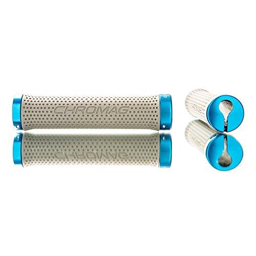 Chromag Basis Lock Grips Gray/Blue 142mm