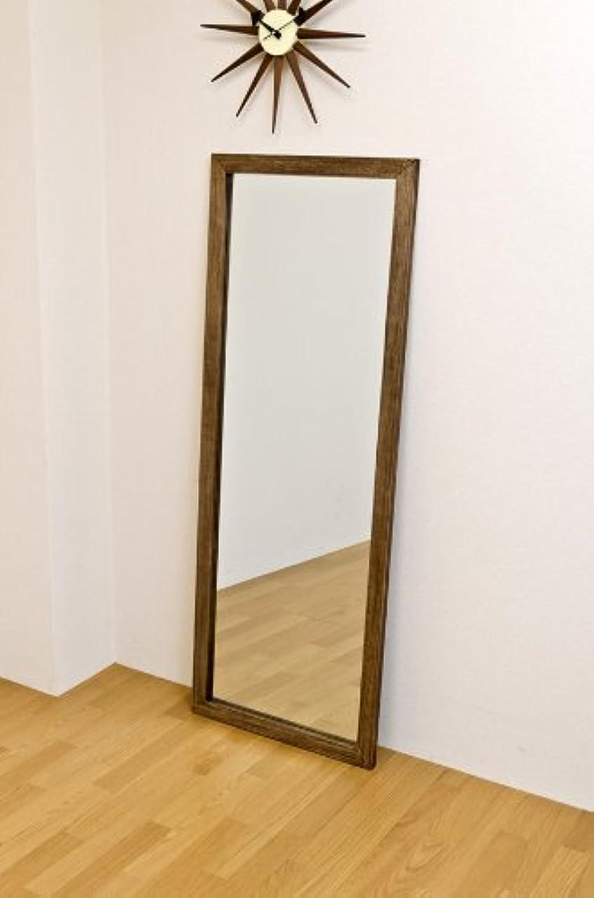 ジャンボミラー アンティーク調 幅60cm×高さ160cm[ダークブラウン]/転倒防止金具付属 大きい鏡