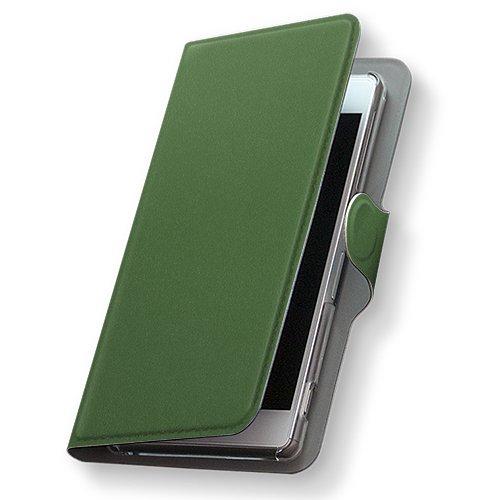 GALAXY S4 SC-04E ケース 手帳型 スマコレ 全機種対応 有り レザー 手帳タイプ 革 フリップ ダイアリー 二つ折り 横開き 革 SC04E ケース スマホケース スマホカバー その他 009013 Samsung サムスン docomo ドコモ シンプル 無地 緑 sc04e-009013-nb
